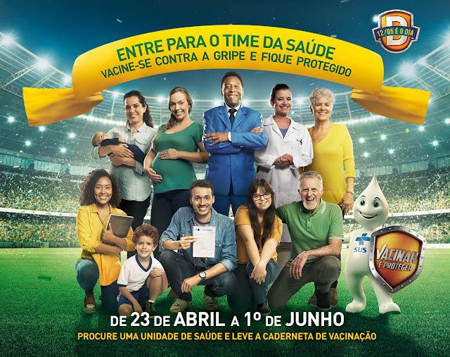 cartaz - CAMPANHA NACIONAL DE VACINAÇÃO CONTRA A INFLUENZA - GRIPE