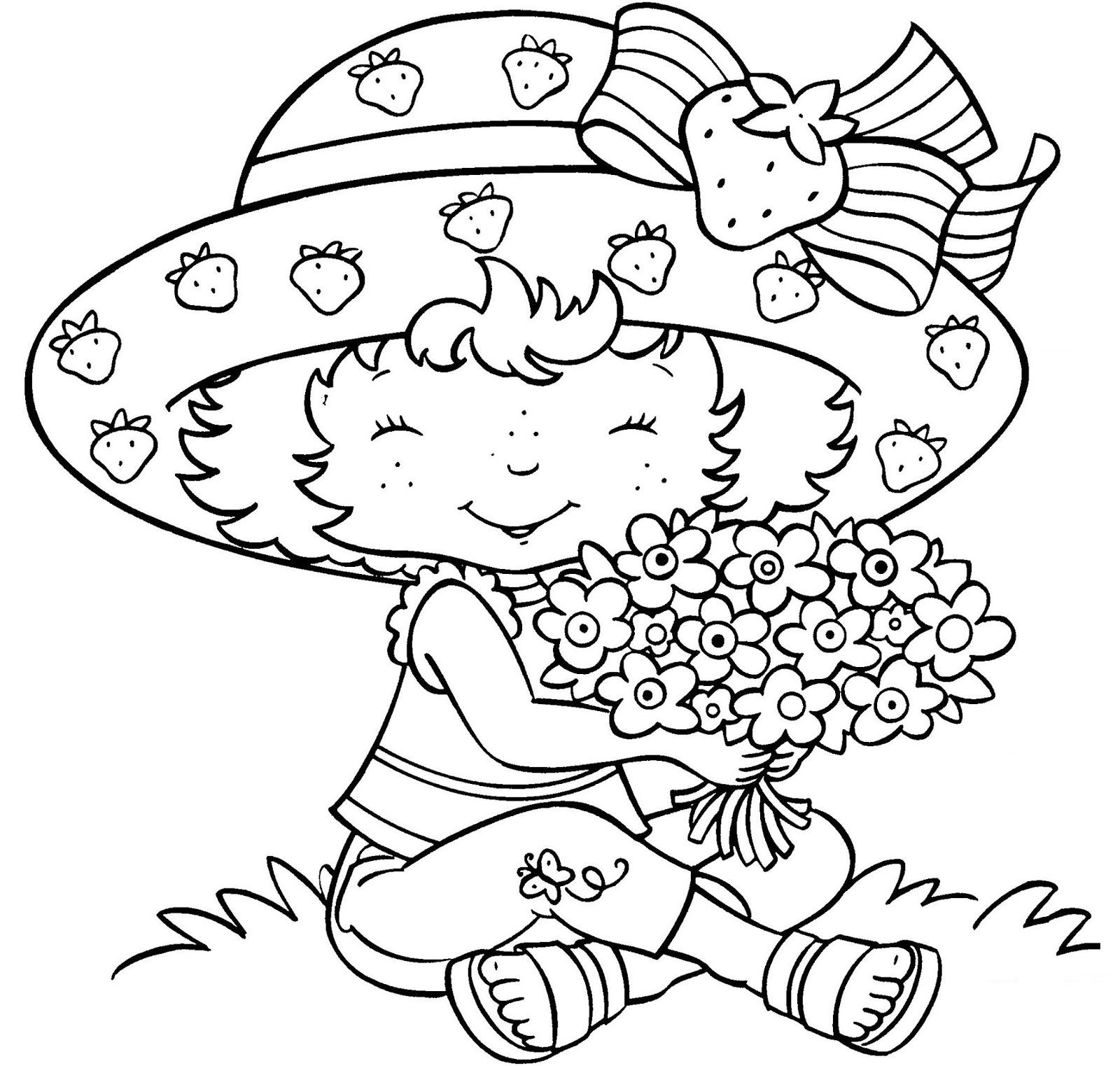 Unico Desenho Da Moranguinha Baby Para Colorir E Imprimir