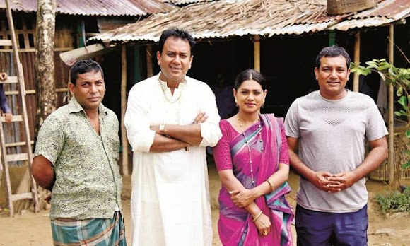 Haldaa (2017) is a Bangladeshi dramatic feature film directed by Tauqir Ahmed in 2017. The film is made based on the story written by Azad Bulbul. It is made under the banner of Tiger Media Limited. The film is starred by Mosharraf Karim, Zahid Hasan and Nusrat Imrose Tisha as the leading characters and others in supporting roles. The film Haldaa (2017) is released on 1st December, 2017 in81 cinema halls in Bangladesh.