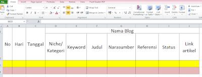 monthly plan untuk blog
