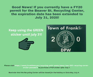 https://www.franklinma.gov/recycling-solid-waste/news/fy-20-recycling-center-permit-expiration-extended-july-31-2020