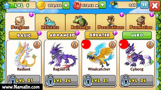mod dragon mania unlimited money