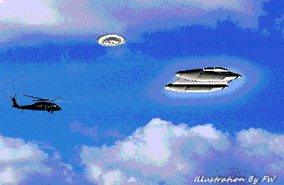 UFOs Were Followed By Black Helicopter