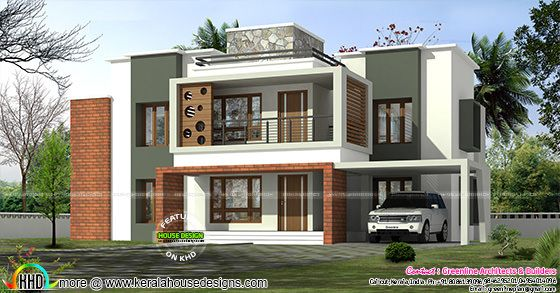 3375 sq-ft 4 bedroom box model contemporary home