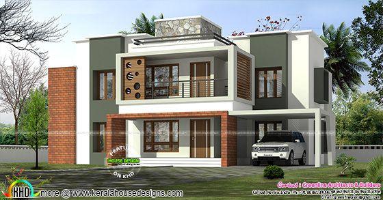 3375 sq-ft 4 bedroom box model contemporary home