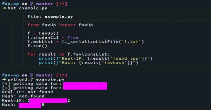 Fav-Up : IP Lookup By Favicon Using Shodan