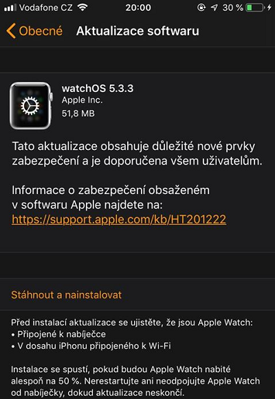 Apple watchOS 5.3.3 Features Changelog