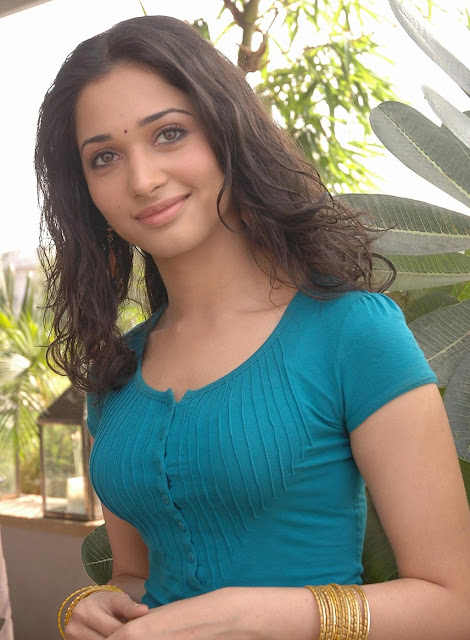 "Tamannaah Bhatia Displays Sexy Body In Blue Figure Hugging Top and Yellow Skirt At Telugu Film ""Konchem Ishtam Konchem Kashtam"" Press Meet"
