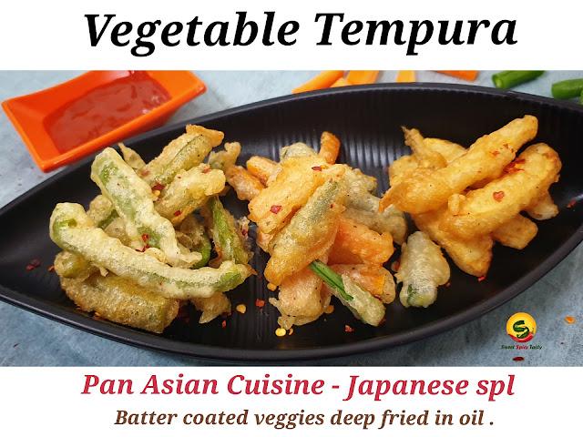 Perfect tempura batter at home , is tempura vegetarian? , can we make tempura at home ? , what are the vegetables to be used in tempura , jain tempura, tempuras, japanese special tempuras