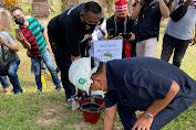 Gubernur Olly Letakan Batu Pertama Taman Wisata Budaya Waruga di Bendungan Kuwil Kawangkoan