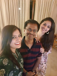 Keerthy Suresh with Varalaxmi Sharath Kumar and AR Murugadoss Latest Selfie