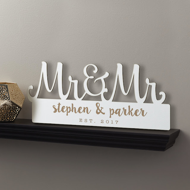 Personalized White Wood Plaque