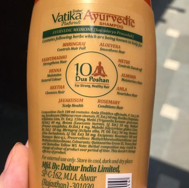 Shampoo Dabur Vatika Ayurvedic