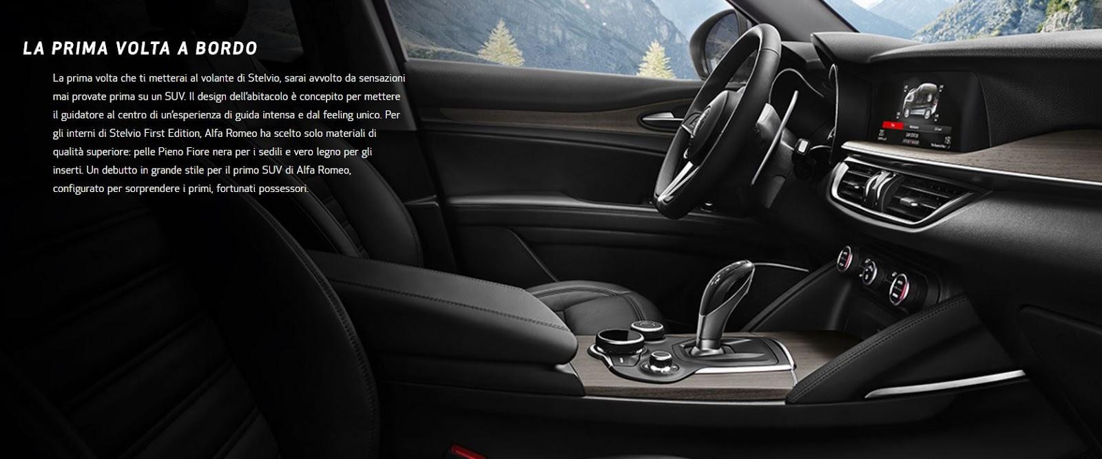 Foto Alfa Romeo Stelvio First Edition interni