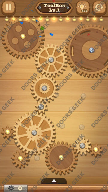 Fix it: Gear Puzzle [ToolBox] Level 1 Solution, Cheats, Walkthrough for Android, iPhone, iPad and iPod