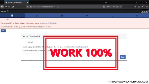 Cara Buka Blokiran Domain Di Facebook Work 100%