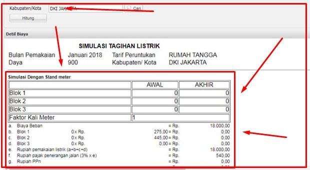 Simulasi Perhitungan Biaya Listrik iii