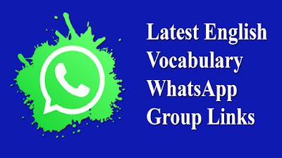Latest English Vocabulary WhatsApp Group Links