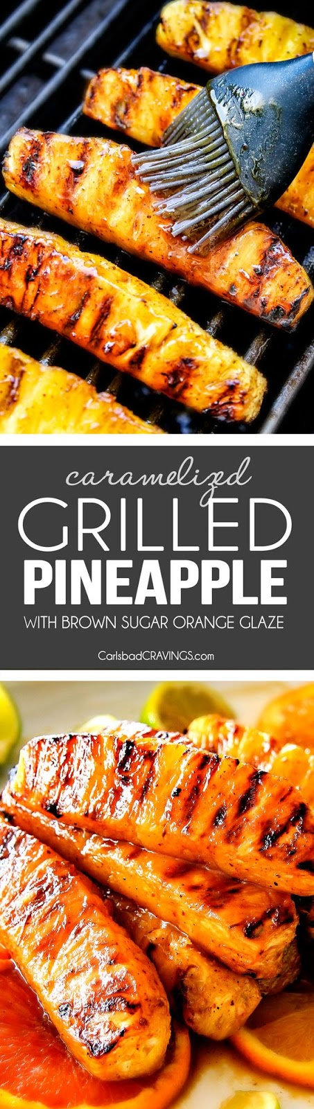 Caramelized Grilled Pineapple with Brown Sugar Chili Glaze