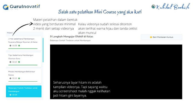 Pelatihan mini course di GuruInovatif.id