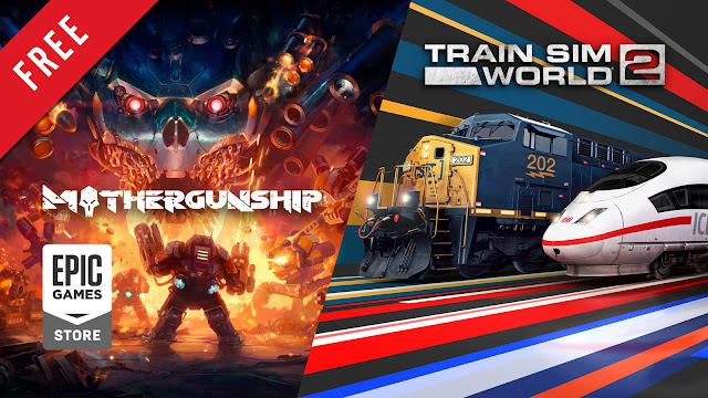 mothergunship train sim world 2 free pc game epic games store fast-paced bullet hell roguelike first-person shooter video game simulator dovetail games grip digital terrible posture games versus evil