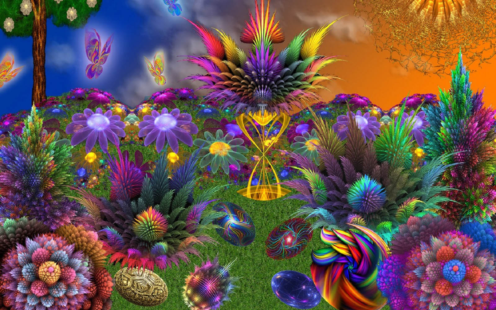 rainbow flowers wallpaper paintings -#main