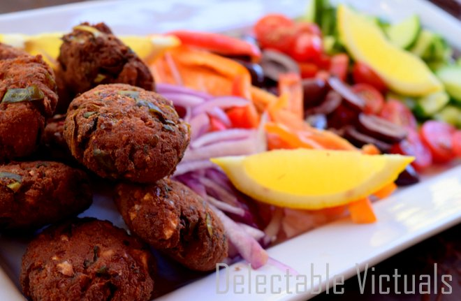 Home-made Falafel with Chard