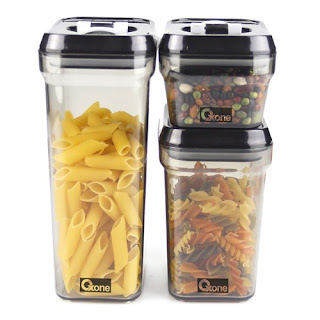 OX-301 Storage Jar Plastic Oxone - 3Pcs (Toples Snack)