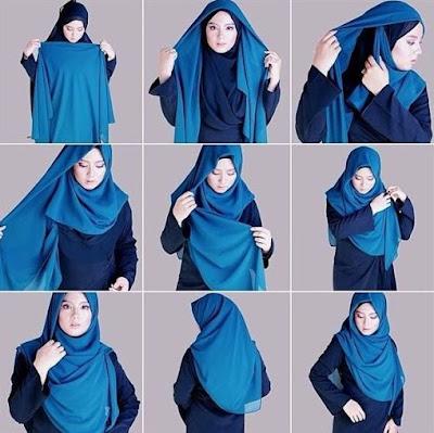 model jilbab segiempat