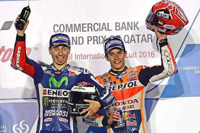 Kembali Memanas! Ini Respon Lorenzo dan Marquez Atas Ejekan Fans Rossi di Qatar