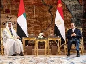 الشيخ محمد بن زايد والرئيس عبد الفتاح السيسي يبحثان العلاقات الثنائية