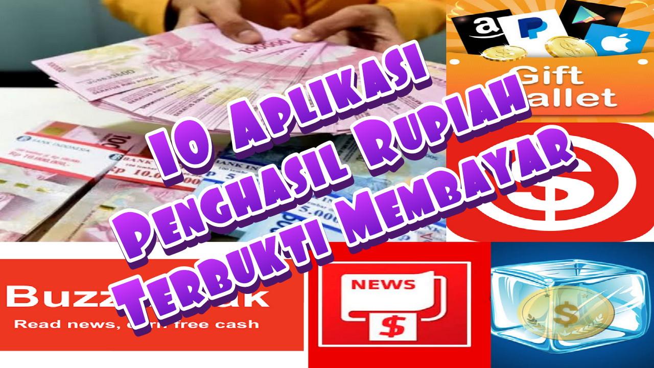 10 Aplikasi Penghasil Uang Rupiah Terbukti Membayar 2020 ...