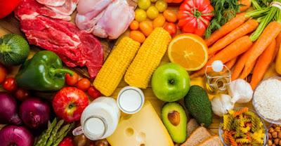 Alimentos plato bien comer