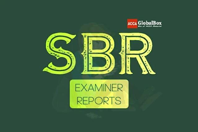 SBR | Examiner Reports