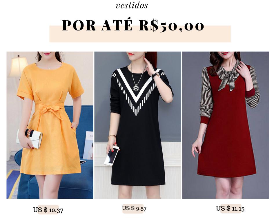vestidos baratos por até 50 reais