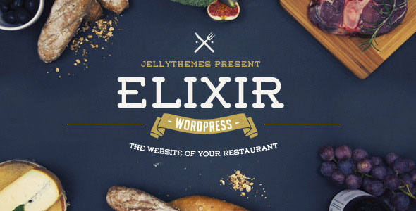 Free Download Elixir V1.3 Restaurant WordPress Theme