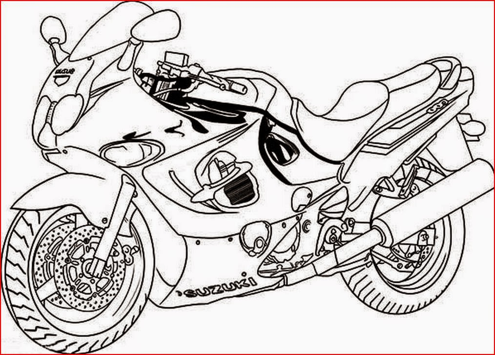 free biker coloring pages - photo#23