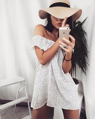 vestido blanco corto de verano casual de moda