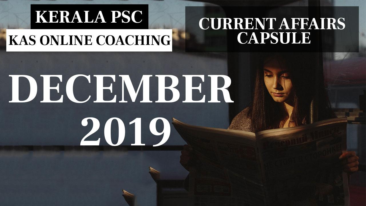 Current Affairs Capsule December 2019