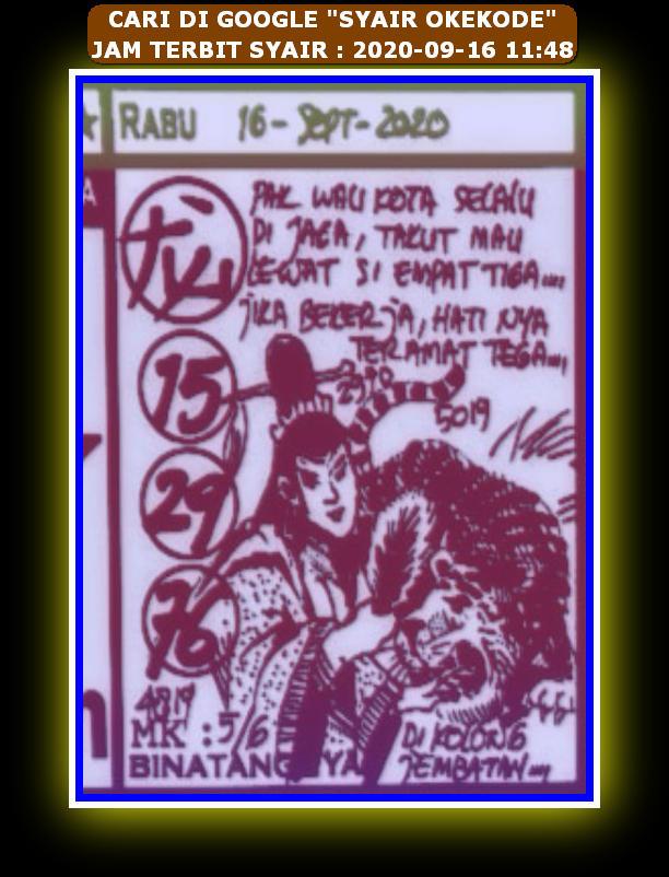 Kode syair Hongkong Rabu 16 September 2020 144