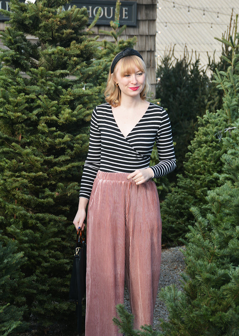 Holiday Wear: Stripes and Velvet | Organized Mess