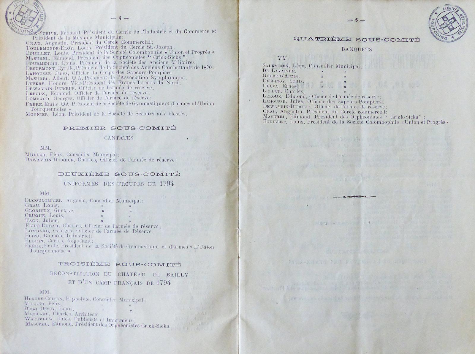 Centenaire Bataille de Tourcoing - Jules Watteeuw
