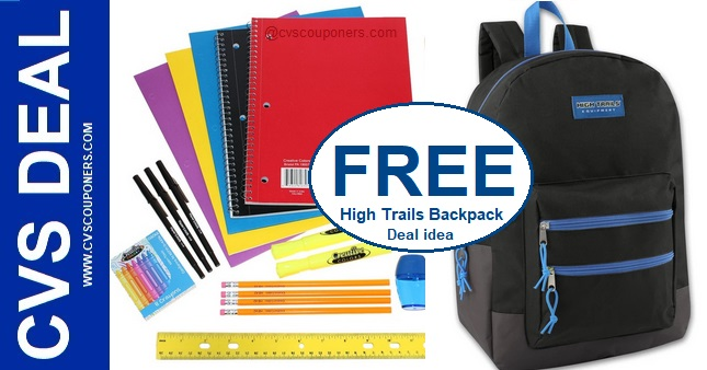 FREE High Trails Backpack CVS Deal - 7/28-8/3