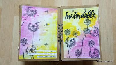 Art Journala Marielapapeletas dandelion