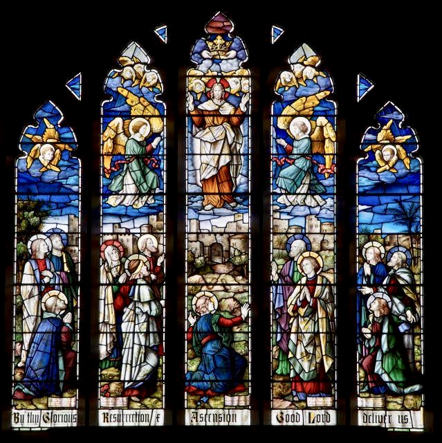 One of Christ Church's Stained Glass windows.