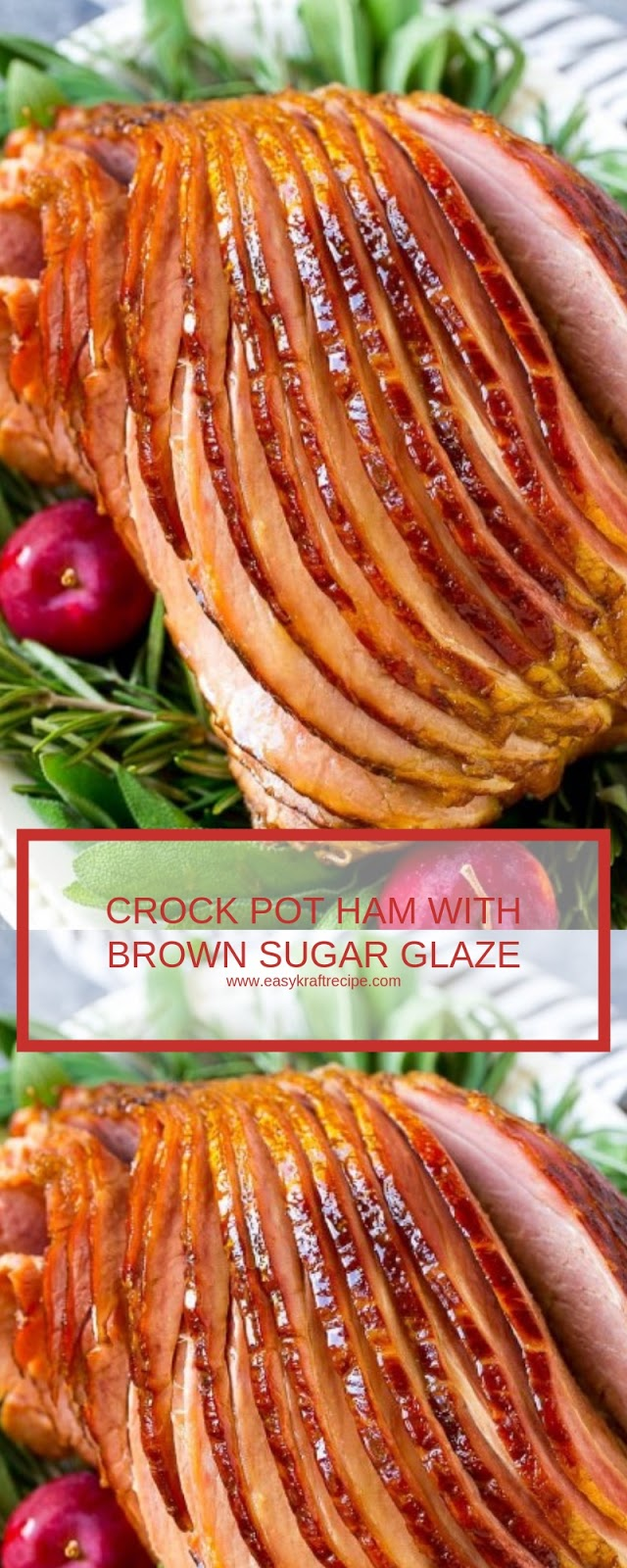 CROCK POT HAM WITH BROWN SUGAR GLAZE