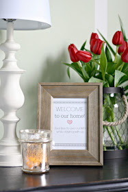 Wifi password frame for guest room