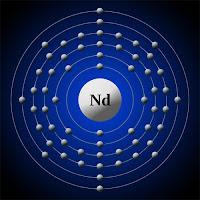 Neodimyum atomu ve elektronları
