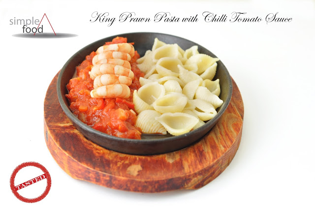 King Prawn Pasta with Chilli Tomato Sauce ~ Simple Food