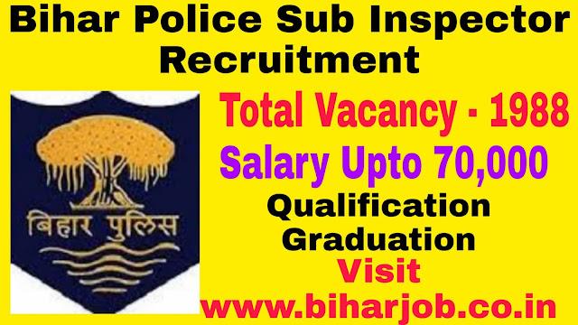 Bihar Police Sub Inspector Recruitment